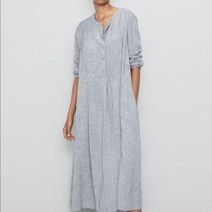 Zara dress silver grey bloggers favorite XS XL